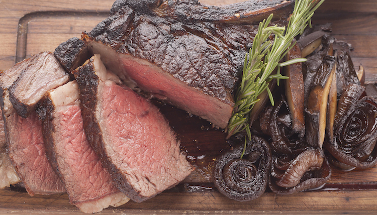 Double rib steak for two quality meats
