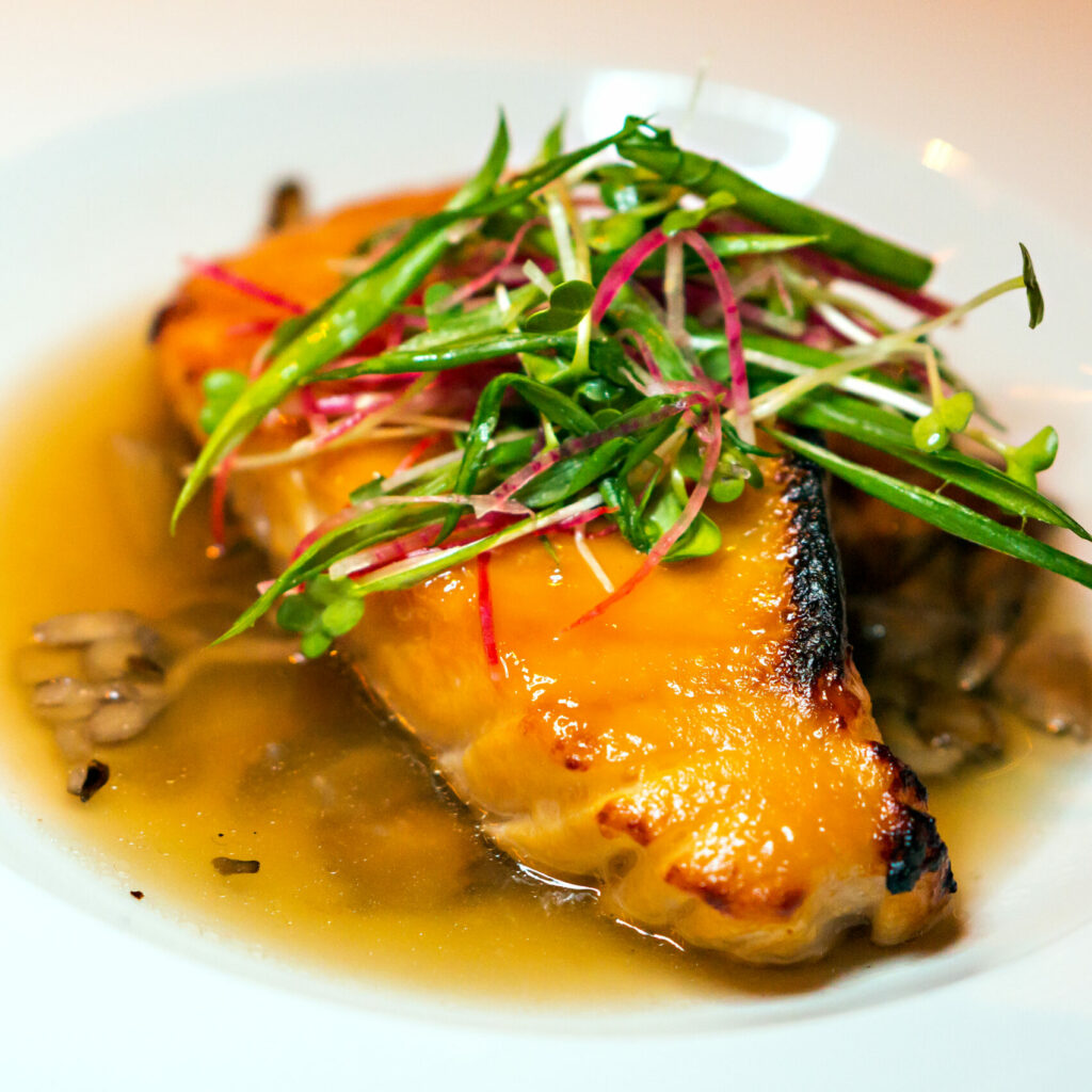 Bourbon Steak – Miso Glazed Sea Bass