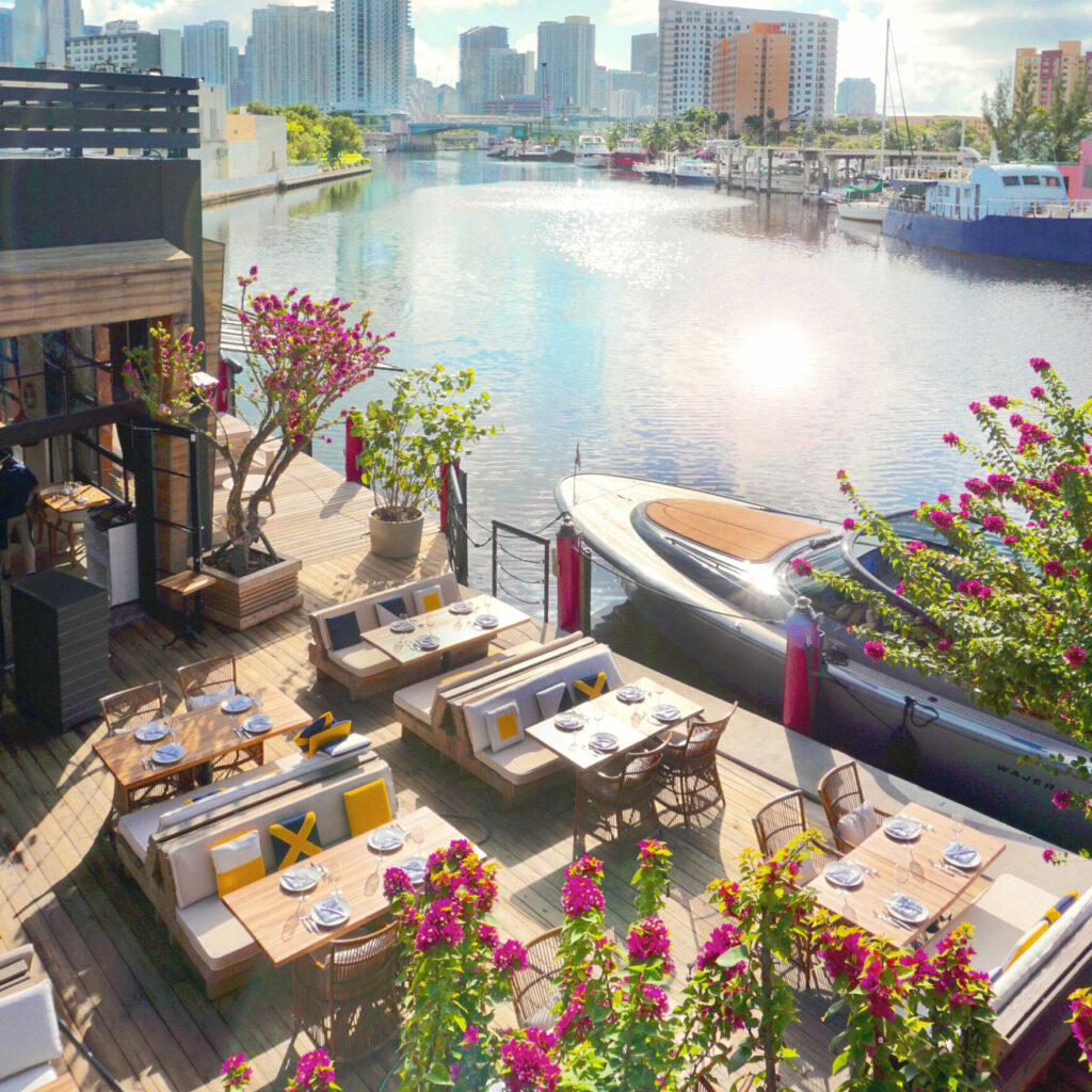 Venue_Daytime view of courtyard and Miami River